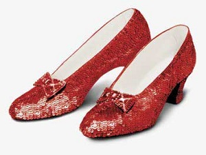 "Ruby Slippers from the ""Wizard of Oz"""